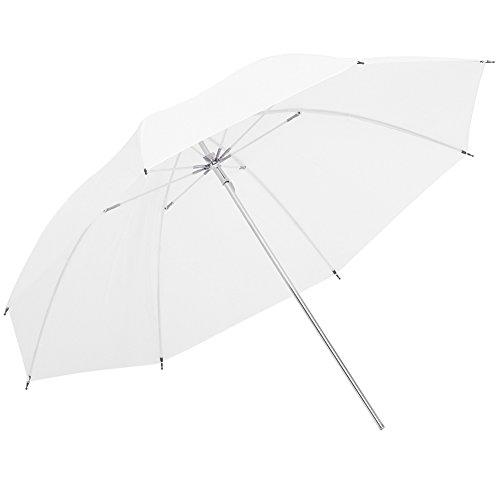 Neewer difusor Blanco translúcido Suave Paraguas para Flash monolight – 43 pulgadas/109 centímetros Reflector de luz y modificador para fotografía de Estudio