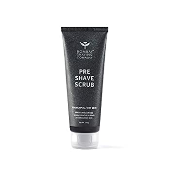 Bombay Shaving Company Pre Shave Scrub with Black Sand and Vitamin E for Dead Skin Removal,