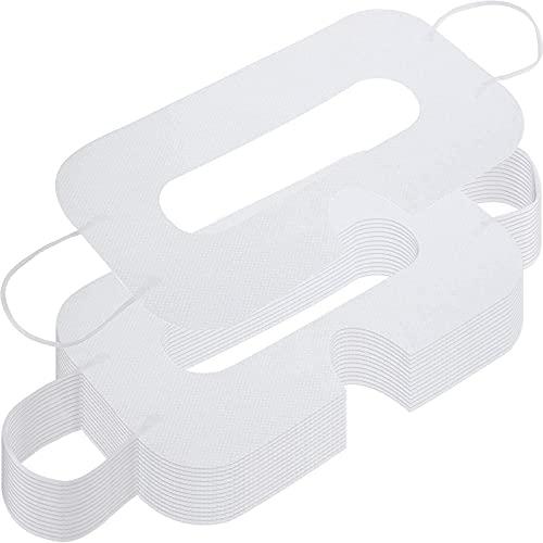 150 Pacco Maschera Maschera per Occhi Sanitaria Non Tessuta Maschere Monouso Copertura Compatibile con Cuffia Avricolare H-T-C Cuffia per Realtà Virtuale Vive (Bianco)