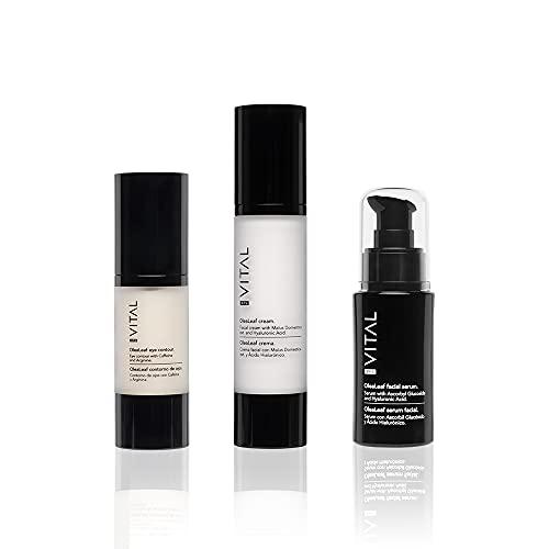Pack Cremas Faciales Mujer Set Belleza Crema Hidratante Facial + Serum Facial Mujer + Contorno de Ojos Antiarrugas Mujer Cremas Faciales Mujer