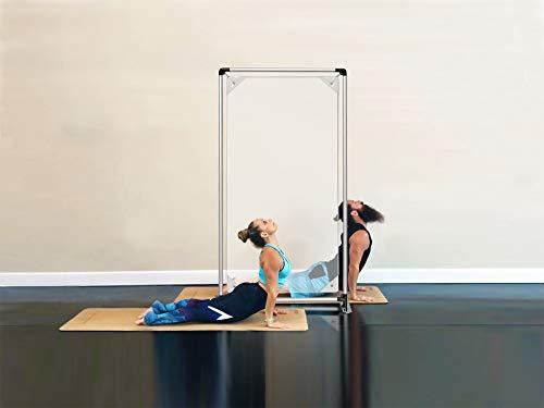 Floor Standing Sneeze Guard, Door Frame with Protective Screen Shield 36.2'X75.6' for Room Isolation, Office