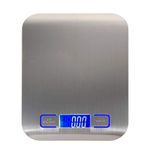 GTBAO Taschenwaage Feinwaage Digitalwaage Waage 1000G X 0,1G Digitale Küchenwaage Edelstahlwaage Gewichtswaage Waage Messwerkzeug LCD Elektronische Waage-A_5000G_X1G