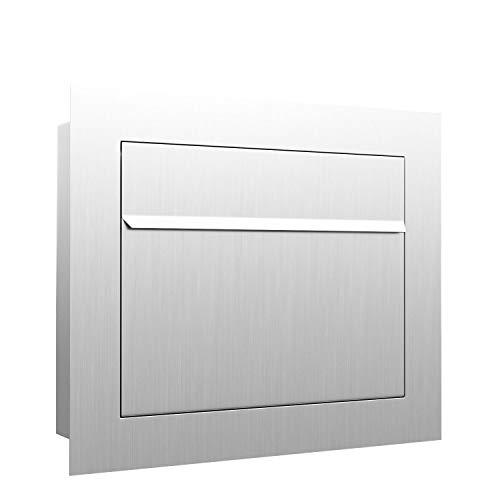 Unterputz-Briefkasten, Design Einbaubriefkasten Sora Edelstahl - Bravios