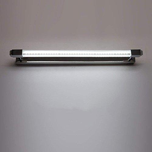 DSJ spiegel-licht geleid spiegel-koplamp, badkamer-toilette, eenvoudige spiegelkast, roestvrij staal, roestbestendig, anti-condens, lange spiegellamp