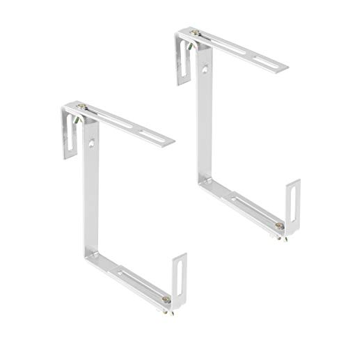 Xclou Blumenkastenhalterung ohne Bohren-Balkonkastenhalter in Weiß Haken & Halter, 18,5x4,5x17 cm