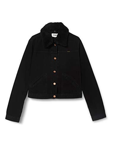 Wrangler Damen Jacket Jeansjacke, Schwarz (Black Star 13D), Small