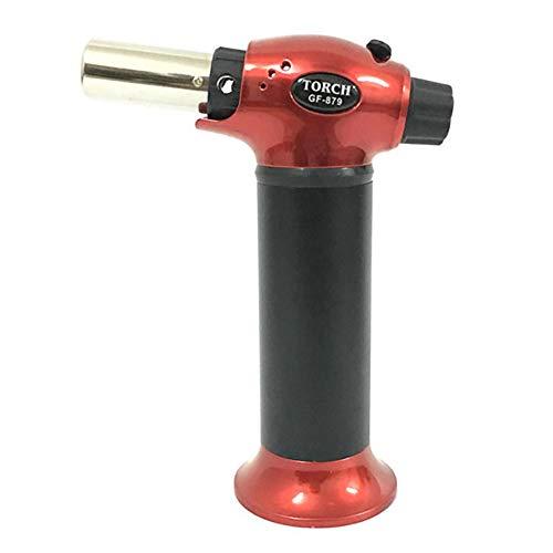 Quemador de gas butano, quemador flambeado para flan, barbacoa, postres, para cocinar, hornear, flambear, asar, gas butano no incluido