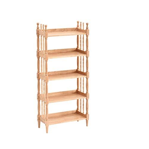 AVEO Bookshelf Creative Bookcase Modern Students Bedroom Simple Solid Wood Bookshelf Display Cabinet Living Room Storage Rack Open Shelf Bookcase (Size : Five Floors)
