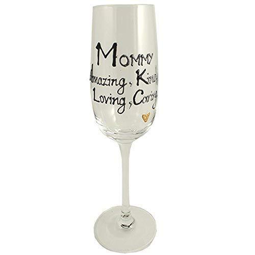 Mommy cadeau Flûte à champagne flûte (Noir/argent)