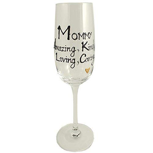 Dreamair Mommy Cadeau Flûte à Champagne flûte (Noir/Argent)
