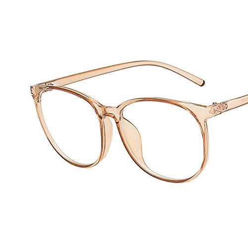 Huayuan 2021 Nuevas gafas anti luz azul Gafas de ordenador Hombres Mujeres Gafas con montura súper ligera-marrón