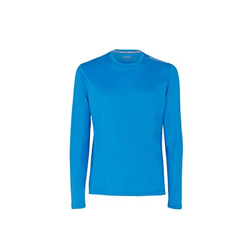 Diadora X-Run LS - Maglietta Tecnica da Corsa, Blu Cielo, M