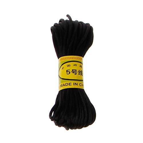 llwei258 10 m zacht satijn nylon multicolor cord solide touw voor sieraden maken parels katoenen koord voor baby 2,5 mm DIY halsketting hanger BK
