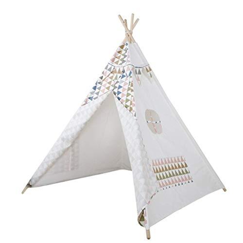 YDHWY Kids Tent,Canvas Teepee Children's Tent with Window & Floor Mat, Indoor/Outdoor Use Children's Play Tent
