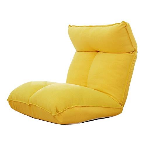 LSRRYD Inklapbare vloerstoel met verstelbare rugleuning Lazy Lounge Sofa comfortabele zitbekleding te gebruiken als gaming chair, meditatiestoel yoga camping