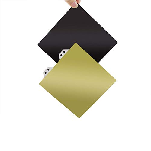 BCZAMD - Piastra di stampa 3D in acciaio flessibile, 128 x 128 mm / 5 x 5 pollici con base di montaggio magnetica PEI compatibile con stampanti SnapMaker