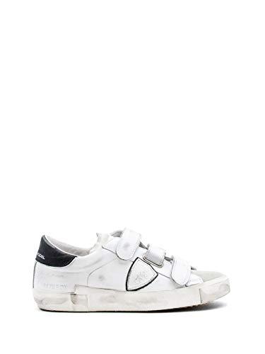 Philippe Model Sneaker Rips In Weißem Leder Mit Silbernen Details