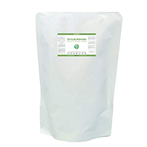 NOVATERA Terre de Diatomée 100% Naturelle - Sac 25 kg - Garantie Origine France - Ultrapure - Formats 0,3 à 25 kg - Protection écologique - ECOCERT Utilisable Agriculture Biologique