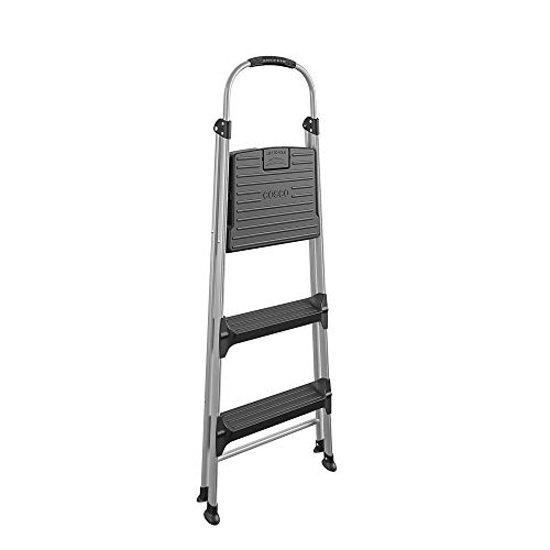 Cosco Signature Step Stool Three-Step Aluminum with Plastic Steps
