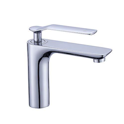 XVXFZEG Lavabo del Grifo del Lavabo Alargado Caliente y Pintura Blanca fría del WC Cuenca del Fregadero del Lavabo del Grifo del Fregadero del Hotel baño Grifo baño Grifo del hogar