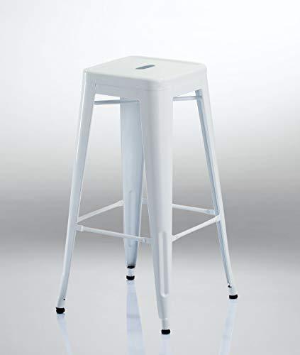 Eisen Barhocker Metall Farbauswahl Barstuhl Robust Und Zeitlos ++Industry Design++ Duhome 665D, Farbe:Weiss, Material:Metall
