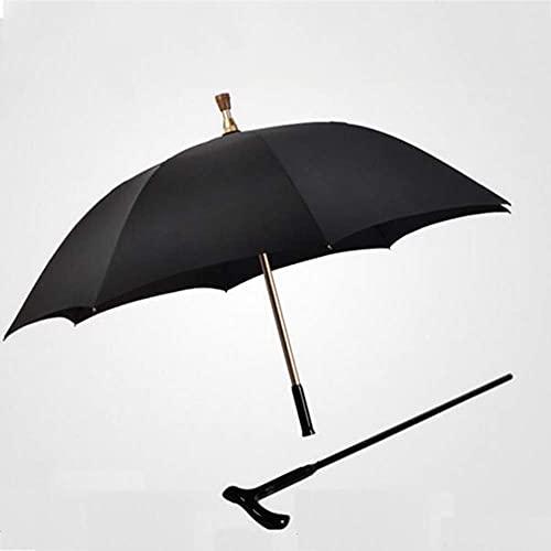 ZLJ Paraguas de bastón para Hombre Viejo Paraguas automático de Longitud para Caminar Separable y Ajustable