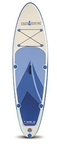 Yachticon Kit Complet de Planche Gonflable pour Sup Board (Dimensions cm 275 x 76 x 12 cm, jusqu'à 80 kg) + Sac, Paddle, Pompe, Laisse de Cou et kit de réparation