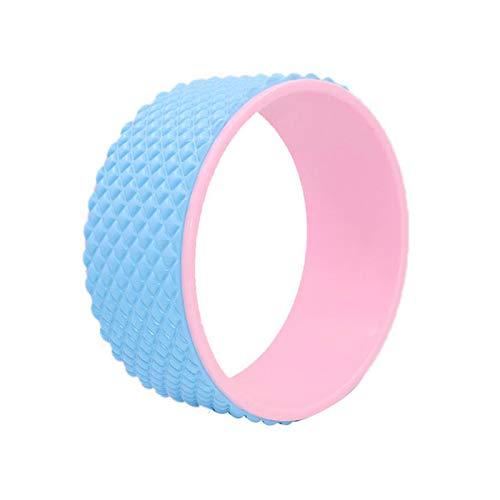 LKOER Rueda de yoga premium para liberar tensión, entrenamiento de equilibrio, estiramiento de espalda, relajación muscular, artefacto, pilates, círculo, entrenamiento, yoga, estiramiento, rueda