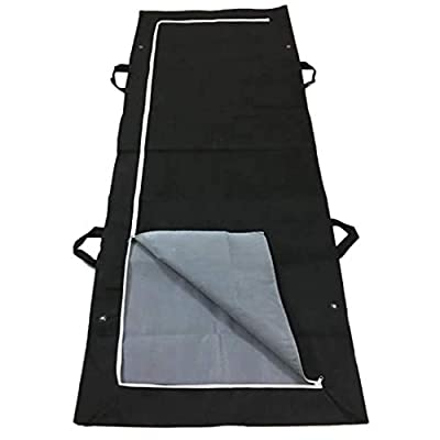 TVMALL Portable Cadaver Bags Waterproof Shroud Body Bag Halloween Disposable Emergency Cadaver Body Bag Leak-Proof Non-Woven Patient Transport Bag Outdoor Activity Camping Storage Bag -Black