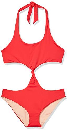 Dolce Vita Women's Standard Convertible Reversible Monokini Swimsuit, I Think Not Cherry, Small