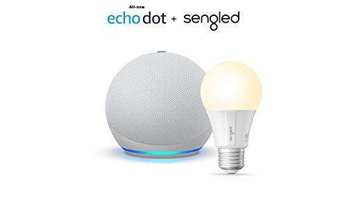 All-new Echo Dot (4th Gen) - Glacier White - bundle...