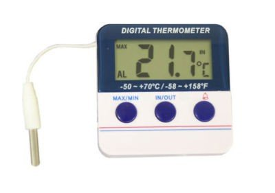 Koch digitales Thermometer, Plastik, weiß, 6 x 6,2 cm
