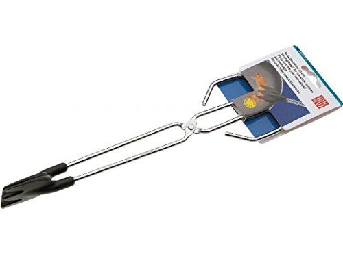 IRIS Tenacilla Larga fritura 30 cms. INOX + Nylon, Acero Inoxidable