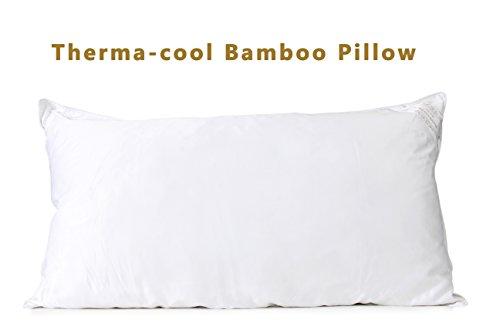 DUCK & GOOSE Premium Hotel Qualität 100% Bambus Kissen für optimalen Komfort, Allergiker mit 1 Jahr Garantie 20 X 26 (Einzelpackung)