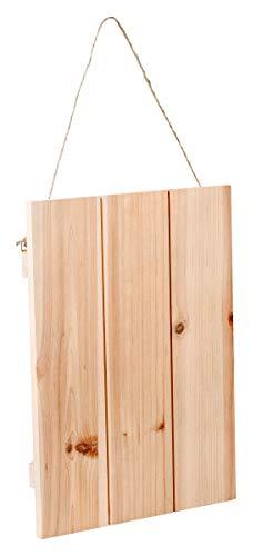 Deko-Holzplatte mit Aufhängung, Rohholz, unterschiedliche Größen ca. 30 x 40 cm