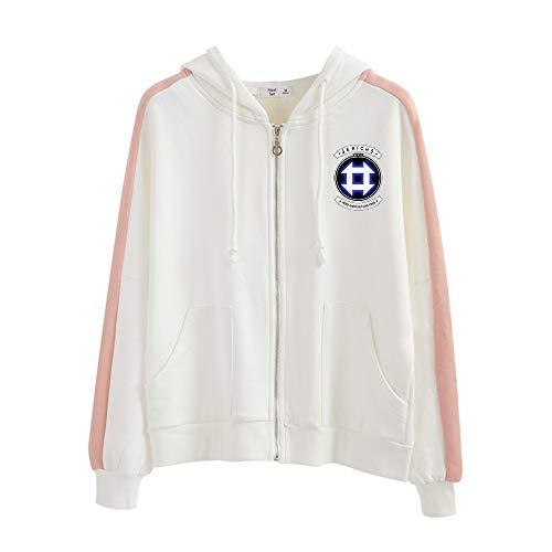 Detroit Become Human Confortable Sweat-Shirt à Capuche Coat Décontractée Fashion avec Zip Hooded Manteau Loisir Hooded Pullover Décontractée Chic Sweats à Capuche