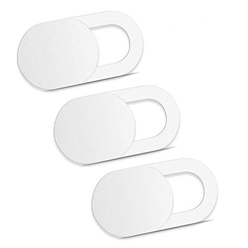 PHASEER Webcam Cover Slider Ultrafina - Cubierta Webcam Adaptable para portátiles, Tabletas, iPad, Macbook Pro, Mac, Macbook Air, iMac (A 3 pcs, Blanco) miniatura