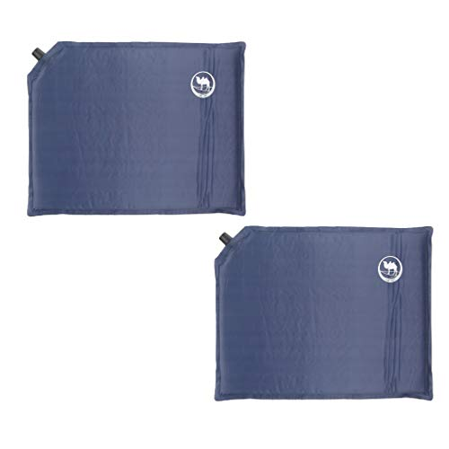 2Pack Portable Self-Inflating Stadium Seat Pad, Inflatable Seat Cushion for Chairs, Air Travel, Camping, Picnic, Garden