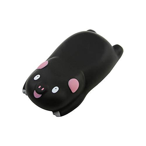Small Wrist Rest Mouse Pad, Mini Cute Pig Ergonomic Mousepad Memory Foam Design Pig Shape Wrist Support Pillow Rest Cushion Mat for Office Computer Laptop,Comfortable and Pain Relief(Black)