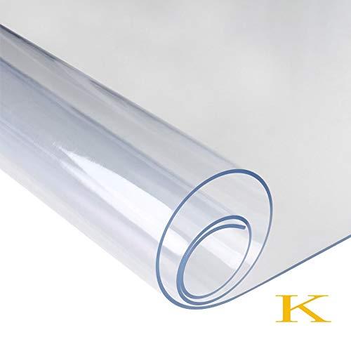 Beste kwaliteit - Tablecloths - nieuw 1.0 transparant tablecloth tablet zacht glas tafelkleed waterdicht oliekitje tafel cover home barbecue-accessoires - van Rocco - 1 pc K – maat.