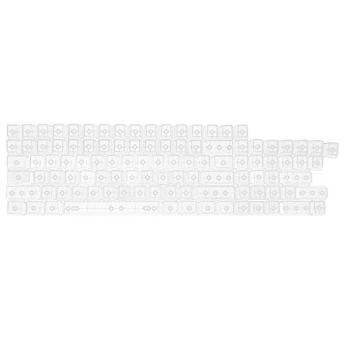 ForHe104 Keys Transparent ABS Blank Keycaps for OEM MX Switches Gaming Keyboard, 3 Colors Optional