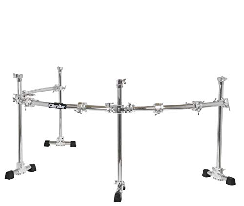 Gibraltar Sistemas de rack, rack curvado de 4 postes chrome series gcs-450c power rack de 4 postes, barras horizontales curvadas.