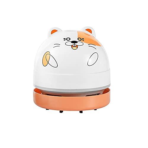 Aspiradora portátil para gatos y uñas, mini aspirador de escritorio, para el hogar, para limpiar el pelo, migas, piano, ordenador (amarillo-C)