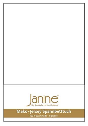 Janine Spannbetttuch 5007 Mako Jersey 90/190 bis 100/200 cm weiß Fb. 10