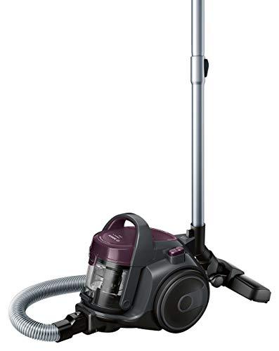 Bosch BGC05AAA1 Aspirador sin Bolsa, Diseño Ultra-Compacto, Filtro HEPA H12 Lavable, 700 W, 1.5 litros, 78 Decibelios, Violeta/Gris (Reacondicionado)
