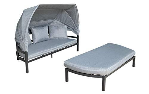 LC Garden Muschel-Set Relaxset Loungebank Loungeset Sonneninsel Bondino Aluminium anthrazit