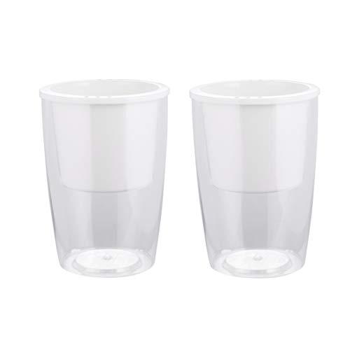 DOITOOL 2Pcs Selbstbewässernder Pflanzertopf Kunststoff Transparent Transparent Faul Blumentopf Saftig Behälter Schreibtisch Vase Dekor für Home-Office-Garten (S ohne Muster)