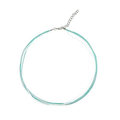 Alpenklinker Kette Chiffon DIY Halsband viele Farben zu jedem Dirndl passend schmuckrausch Farbe Türkis