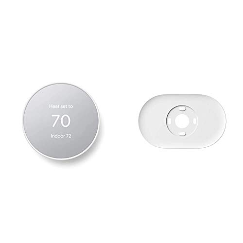 Google Nest Thermostat - Smart Thermostat for Home - Programmable Wifi Thermostat & Trim Kit - Made for the Nest Thermostat - Programmable Wifi Thermostat Accessory - Snow