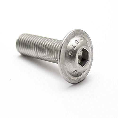 10/pieza lente Tornillos de cabeza M3/x 3/hasta M12/x 120/con hex/ágono interior y brida ISO 7380/Acero Inoxidable A2